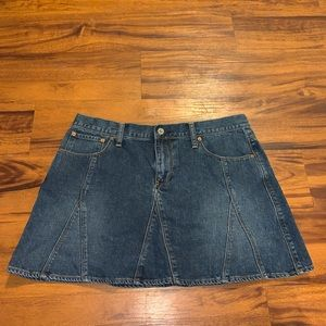 Polo Jeans ladies denim mini skirt.